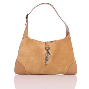 Shop Gucci Online India My Luxury Bargain Gucci Beige Leather Suede Hobo bag