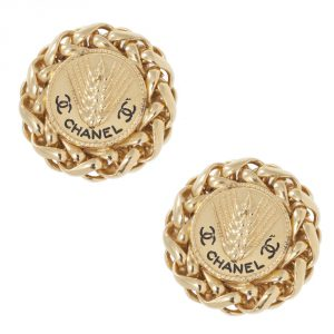 Buy Authentic Chanel Vintage Jewellery Online India My Luxury Bargain Chanel Vintage Trigo Clip Earrings 2003