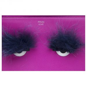 Fendi Fuchsia Pink Monster Clutch