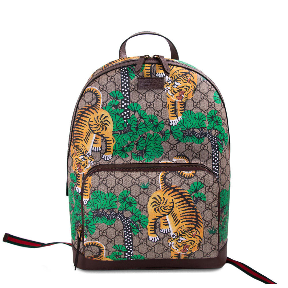f13f7642a52a30 GUCCI BENGAL TIGER GG SUPREME BACKPACK - my luxury bargain aus